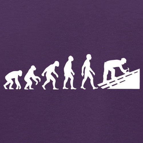 Evolution Of Man Dachdecker - Herren T-Shirt - 13 Farben Lila