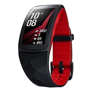 Modelabs Samsung Gear Fit 2 Pro - Seguidor de Actividad con Monitor de Ritmo cardiaco, Talla Large, Rojo [Versión importada: Podría presentar Problemas de compatibilidad]