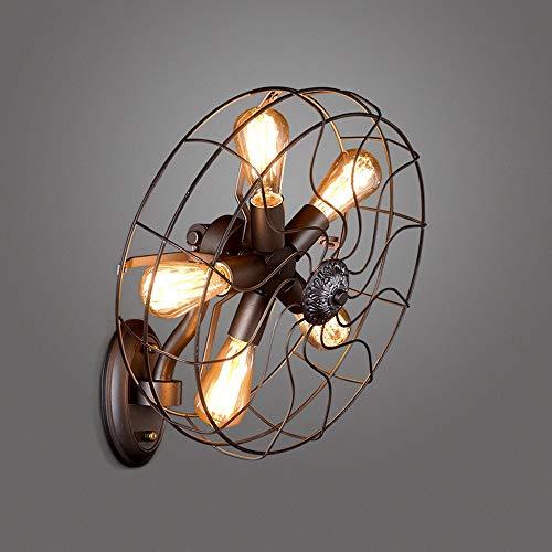 Ventilador industrial antiguo Lámparas de pared American Retro País Loft dormitorio de noche las luces...