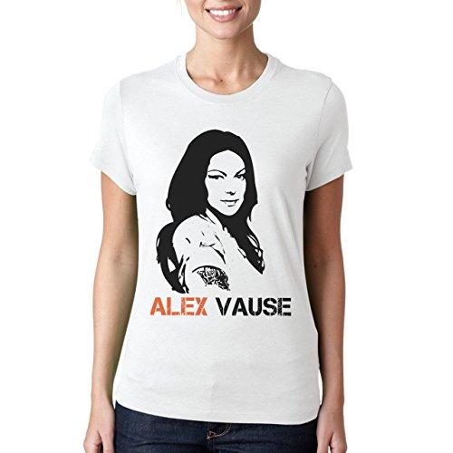 Alex Vause Stencil Portrait Orange Is The New Black Damen T-Shirt Weiß
