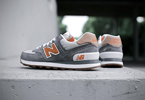 New Balance ML574, Baskets Basses Homme Gris