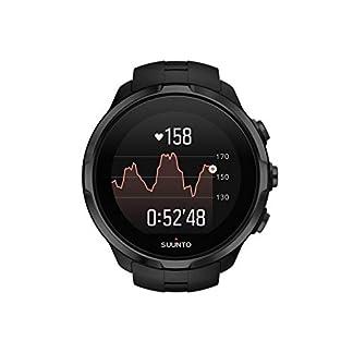 Suunto Spartan Sport Wrist HR – Reloj GPS Multideporte, sumergible hasta 100m, pulsómetro de muñeca, pantalla táctil de color, Negro, Talla única