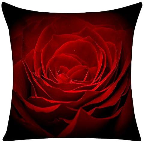 Violetpos Kissenbezug Rot Rose petal Home Decor Werfen Kissen 40 x 40 cm