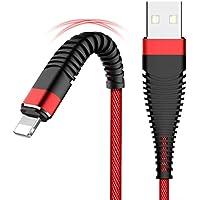 Lorjoy Patrón de Cola de Pescado de Carga rápida de 8 Pines USB Cable de Datos de Alta Velocidad de Transferencia trenzó para iPhone