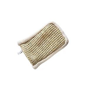 Peelinghandschuh aus Sisal und Bio-Baumwolle | geeignet für Körperpeeling und Massage | Durchblutungsanregend | Premium Wellness