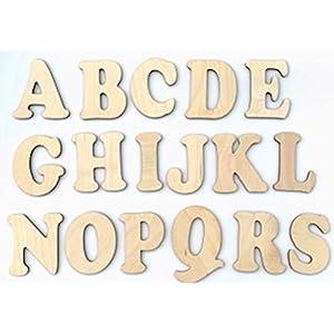 DIY Holzbuchstaben-Rohling zum selber gestalten. Kinderzimmer-Tür, 7cm, Inkl. Klebepads.