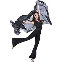 ZhiYuanAN Mujer Danza Del Vientre Chal Wrap Bufanda Velo Gasa Danza Accesorios