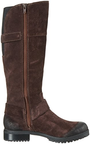 Clarks Damen Faralyn Dawn Biker Boots Braun (Dark Brown Suede)