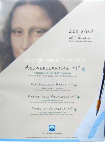 Schoellershammer Aquarellpapier 'Aquarell DaCapao' 36cm x 48cm, 1 Block, 20 Blatt, 220 g/m�, 30145