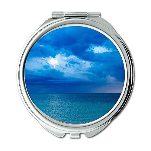 Miroir, miroir compact, nature de la plage, miroir d'occasion  Livré partout en Belgique