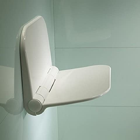 Disabled Wall Mounted Folding White Shower Seat Compact Durable Detachable 160kg