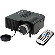 LightInTheBox® Nuevo Negro Mini Proyector HD Home Cine Teatro PC Laptop 320 * 240 VGA input VGA/USB/SD/AV/HDMI