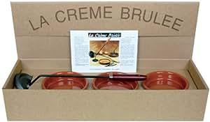 C. DIFFUSION - Coffret Crème Brulée :6 ramequins+ fer Brunisseur*