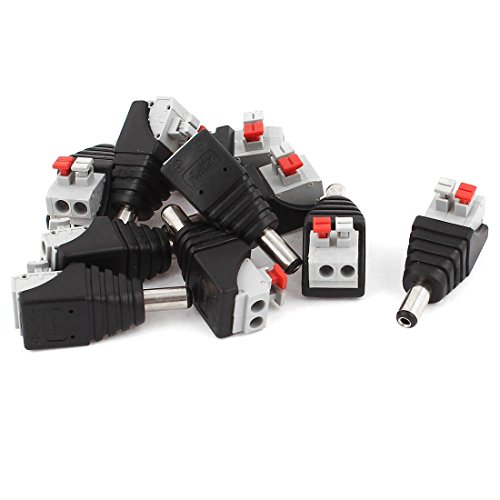 10 pezzi 5.5x2.1mm DC Plug Power Spring Terminal CCTV Camera Connector