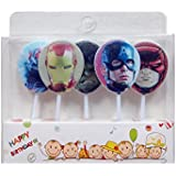 Partysanthe Happy Birthday Candle/ Super Hero Scented Theme Candle/ Super Hero Party Supplies/ Super Hero Decoration/Super Hero/Happy Birthday Theme/Super Hero Theme(5 Pcs)