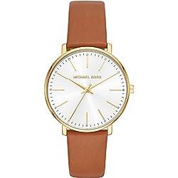Michael Kors Reloj Analogico para Mujer de Cuarzo con Correa en Cuero MK2740