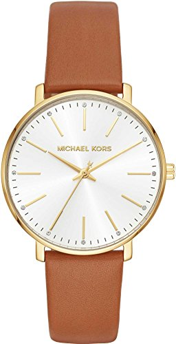 Michael Kors Damen Analog Quarz Uhr mit Leder Armband MK2740 5891ab2729