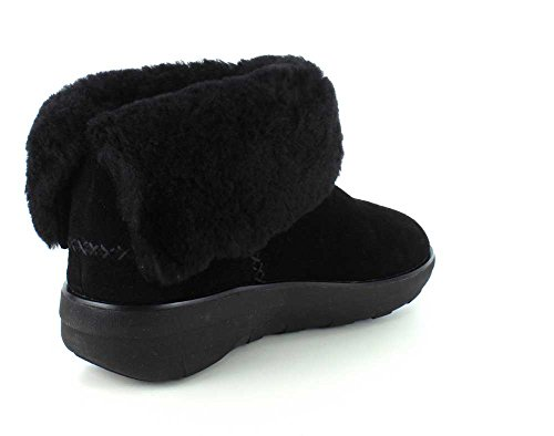 FitFlop Supercush Mukloaff Tm Shorty, Stivaletti Donna Nero (All Black)