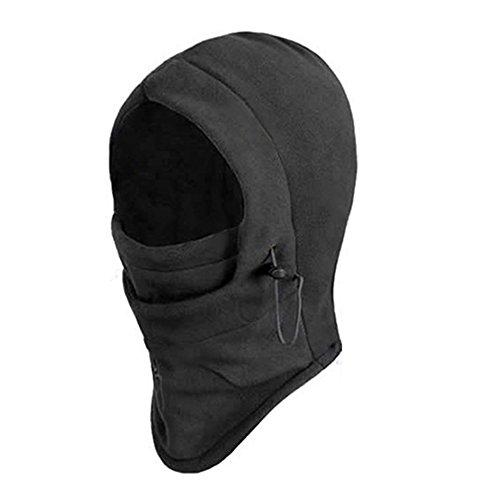 6 in 1 Thermal Fleece Balaclava Hood Skimaske Mütze Sturmhaube Windmaske Schlupfmütze Fleece