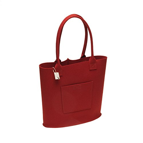 Shopper Einkaufstasche aus Filz (100% Wolle) Tasche von i.Punkt Beere