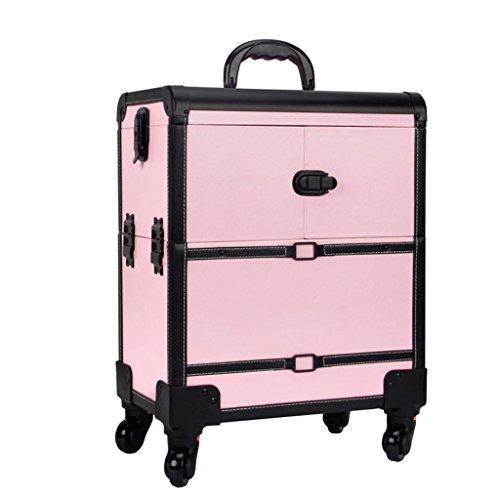 Boîte à Outils - Trolley de Maquillage, Cas de Voyage de Maquillage de roulement, Sac de Maquillage de beauté, Organisateur de cosmétiques sur Roues Durable (Couleur : A)