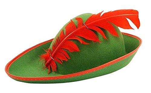 Inconnu Adulte Robin des bois Vert Chapeau style bavarois Déguisement Robinhood Déguisement Casquette