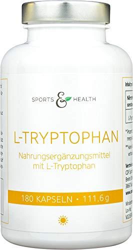L-Tryptophan 500mg - 180 vegetarische Kapseln - 6 Monatsvorrat - Ohne Füllstoffe -