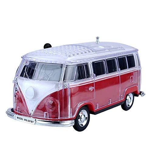 SODIAL Auto Ws-267Bt Mini Bluetooth Mini Bus Lautsprecher Sound Box Mp3 + + U Platte + Tf + Fm Rot