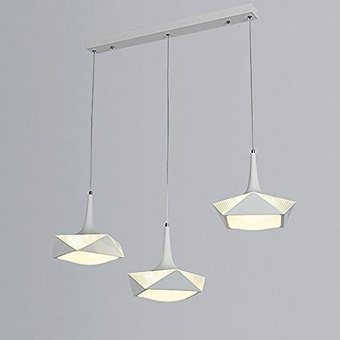 a la personnalité créative derrière moderne pendentif lumière, matériau aluminium, taille 50 * 28.5cm, e27 douille, s'appliquent aux chambres, balcon, étude