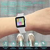 Lorenlli Drahtlose Bluetooth Smart Watch 1,54 Zoll X6 Armbanduhr mit 1.3MP Kamera & Gummiarmband für iOS für Android