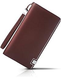 Demon&Hunter W1DT Luxury Series Men's Leather Clutch Bag Organizer Wallet Brown W0103C By Demon Hunter