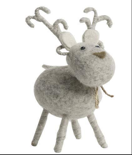 HIOLYU Nordische Land Filz Elch dekorative Ornamente Home Schlafzimmer Tier Hirsch weichen Dekorationen Wohnzimmer Cartoon Ornamente