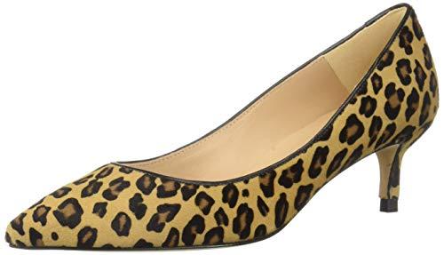Haircalf Leopard (L.K. Bennett Damen Haircalf Print Pointed Toe Heel Court Shoes Audrey, Kalbsleder, Leoparden-Druck, spitz zulaufender Zehenbereich, Kitten-Absatz, Schuhe, Natur, 38 EU)