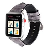TINERS Compatibile Apple Watch Band 44Mm 42Mm 40Mm 38Mm Moda Casual 3D Big Eyes Cinturino in Pelle Iwatch Band Series 4/3/2/1 Generation,Gray,40Mm