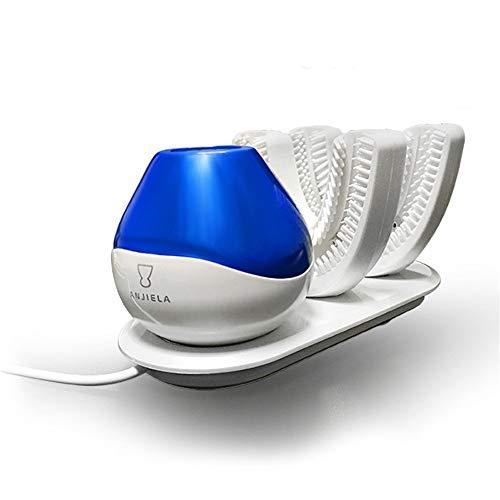 360°Wireless Lade Faul Automatische Elektrische Zahnbürste, 15 Sekunden Intelligente Automatische Elektrische Zahnbürste USB Ladegerät Ultra Sonic 360 Grad U Form Zähne Zahnbürste Köpfe Timer (Elektrische Twin Pack Zahnbürste)