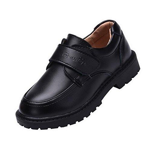 Flying Hedwig Oxford Chaussures de Ville Mocassins pour Enfants Garçons Hommes Chaussures en Faux Cuir à Velcro Formel Causal pour Mariage Travaille 2 Couleurs