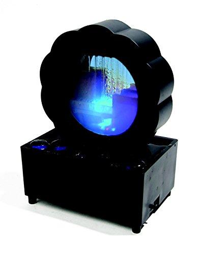 Fontaine d'Intérieur Feng Shui Lumineuse - 7 Couleurs - Objet de Décoration et de Relaxation - Noire