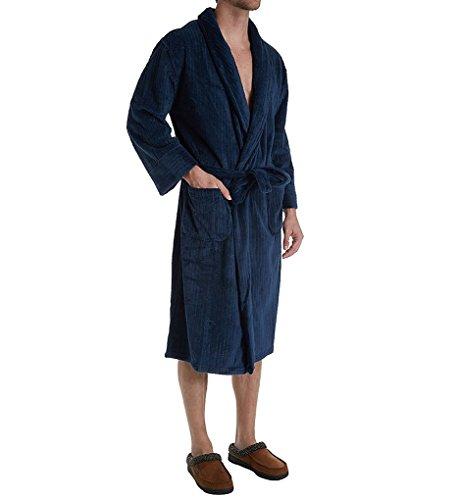 Hanes Herren-robe (Soft-Touch-Fleece-Robe f¨¹r Herren, Navy, LT / XLT)