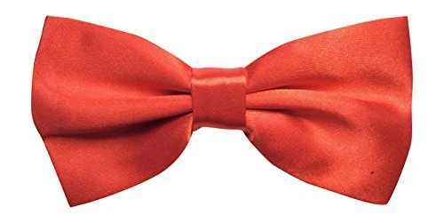Pour homme en satin rouge luxury réglable (de pie mens plain red bow-tie