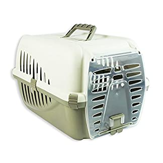 ALANNAHS ACCESSORIES Strong Pet Carrier Crate Cat Kitten Puppy Dog Box Cage Transport Vet Travel 415hm 2BnEe5L