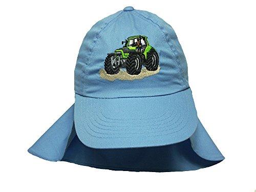 Zintgraf Jungen Legionärs Cap Kappe mit Nackenschutz - Traktor Stickerei Cap41 (hellblau)
