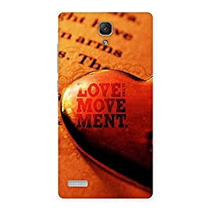Cute Love Movement Back Case Cover for Redmi Note Prime