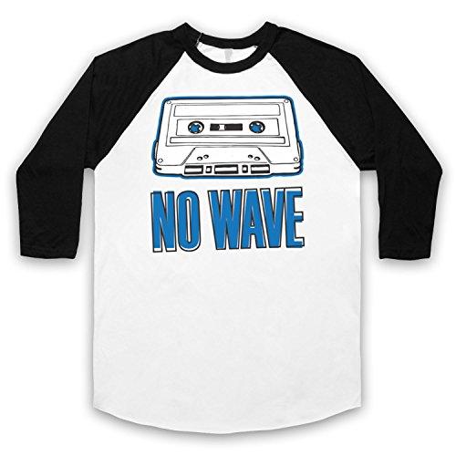 No Wave Art Scene 3/4 Hulse Retro Baseball T-Shirt Weis & Schwarz