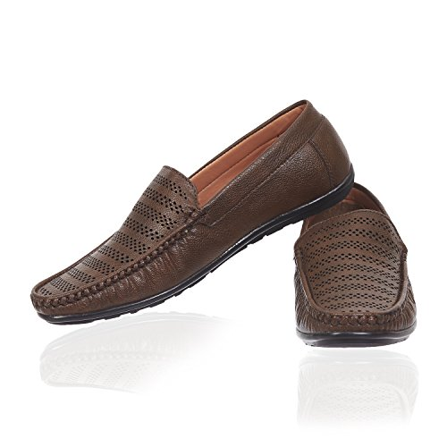 Shoes for Men Boys Brown Colour Casual Stylish Loafer Moccasin Designer Partywear...