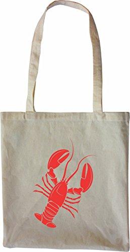Mister Merchandise Tasche Hummer Lobster Stofftasche , Farbe: Schwarz Natur