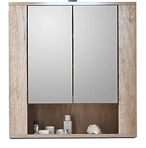 Furnline 1408 503 26 star monument oak bathroom mirror - Armoire glace salle de bain ...