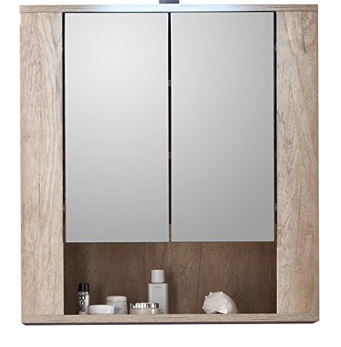 #trendteam ST50326 Badspiegelschrank, BxHxT 70 x 75 x 22 cm, Eiche dunkelbraun#