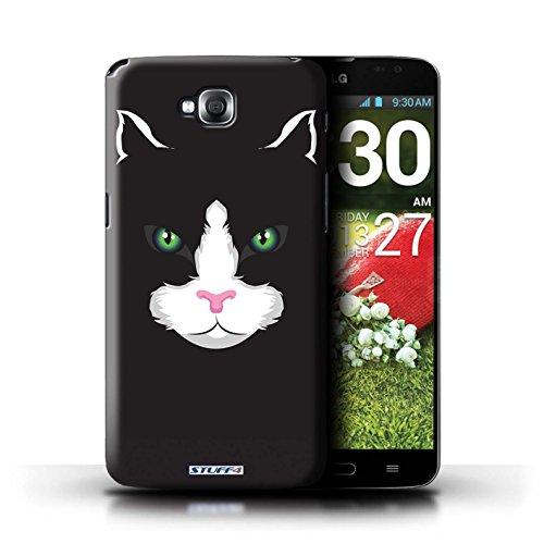 Kobalt® Imprimé Etui / Coque pour LG G Pro Lite/D680 / Cheval conception / Série Museaux Chat noir