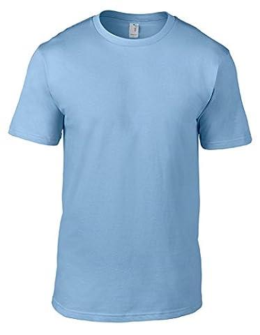 Anvil Men's Eco-Friendly Lightweight Tee, Light Blue, X-Large