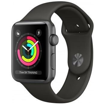 Apple Watch Series 3 Reloj Inteligente Gris OLED GPS (satélite) - Relojes Inteligentes (OLED, Pantalla táctil, GPS (satélite), 18 h, 32,3 g, Gris)